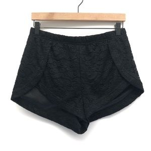 Princess Polly Black Lace Shorts - Size 12